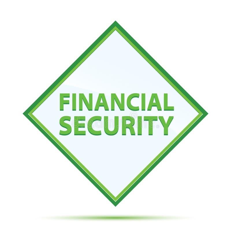 Knoop van de financiële zekerheid de moderne abstracte groene diamant stock illustratie