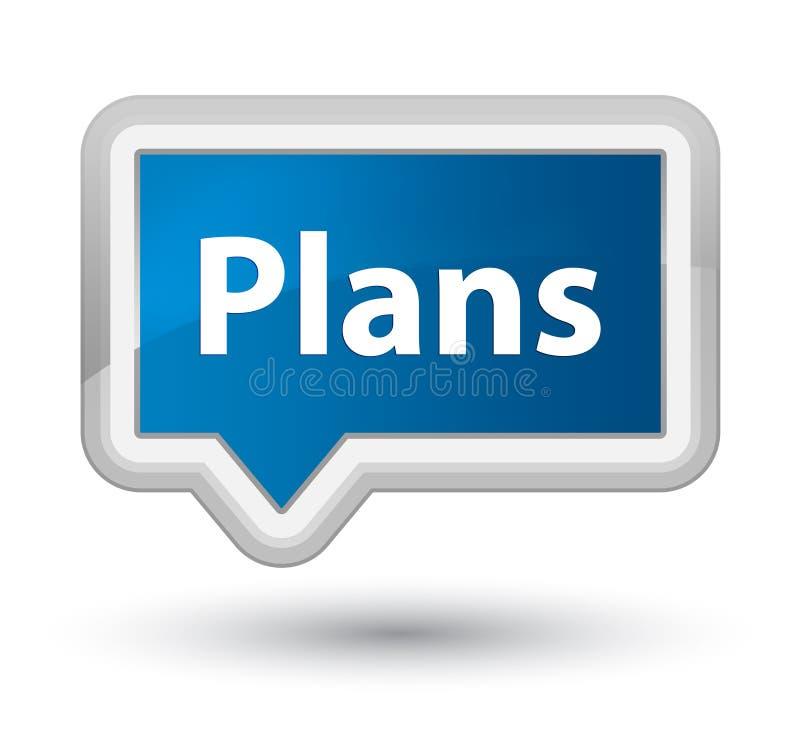 Knoop van de plannen de eerste blauwe banner vector illustratie