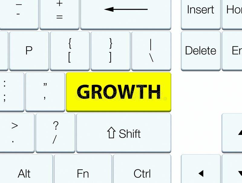 Knoop van het de groei de gele toetsenbord vector illustratie