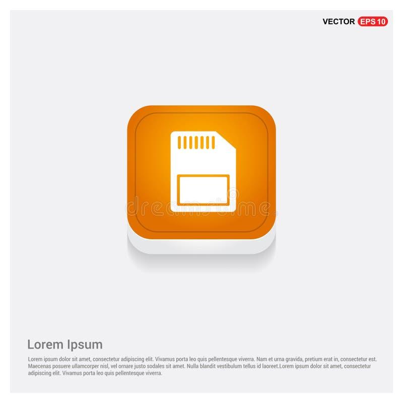 Knoop van het het pictogram de Oranje Abstracte Web van de Simkaart stock illustratie