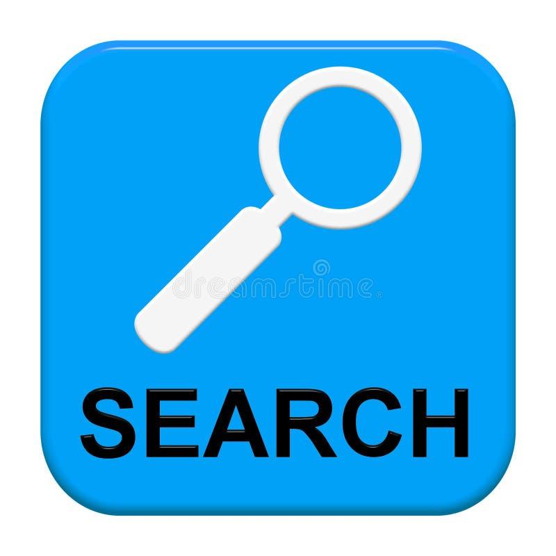 Knoop: Zoek met vergrootglas vector illustratie