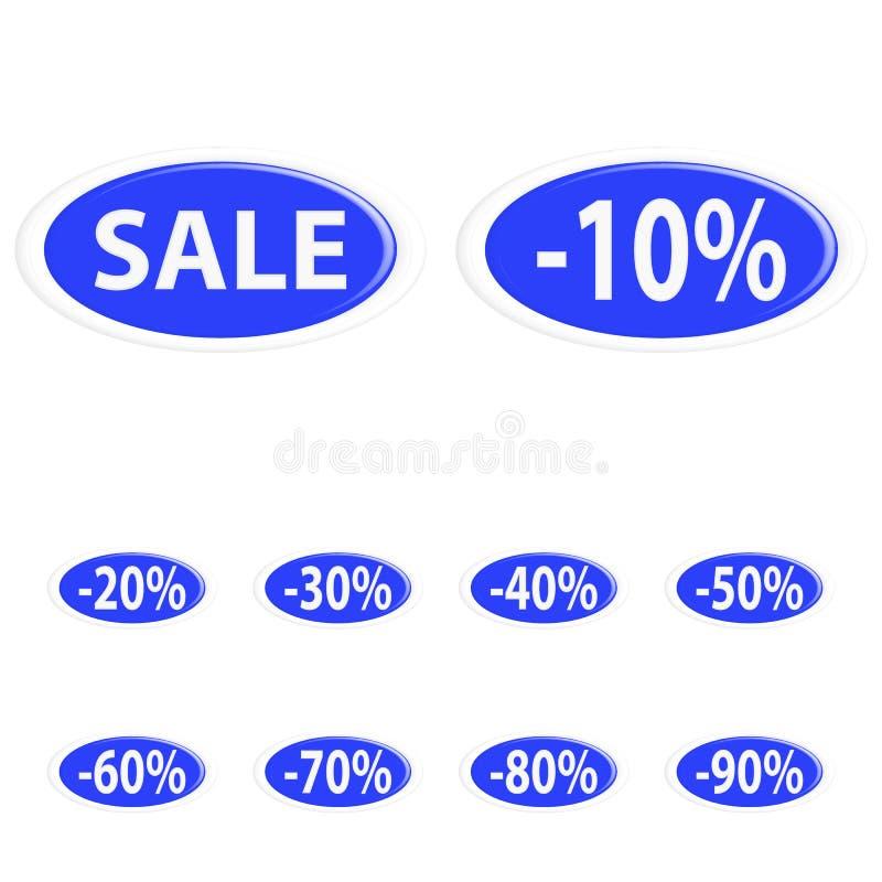 Knoopverkoop stock illustratie