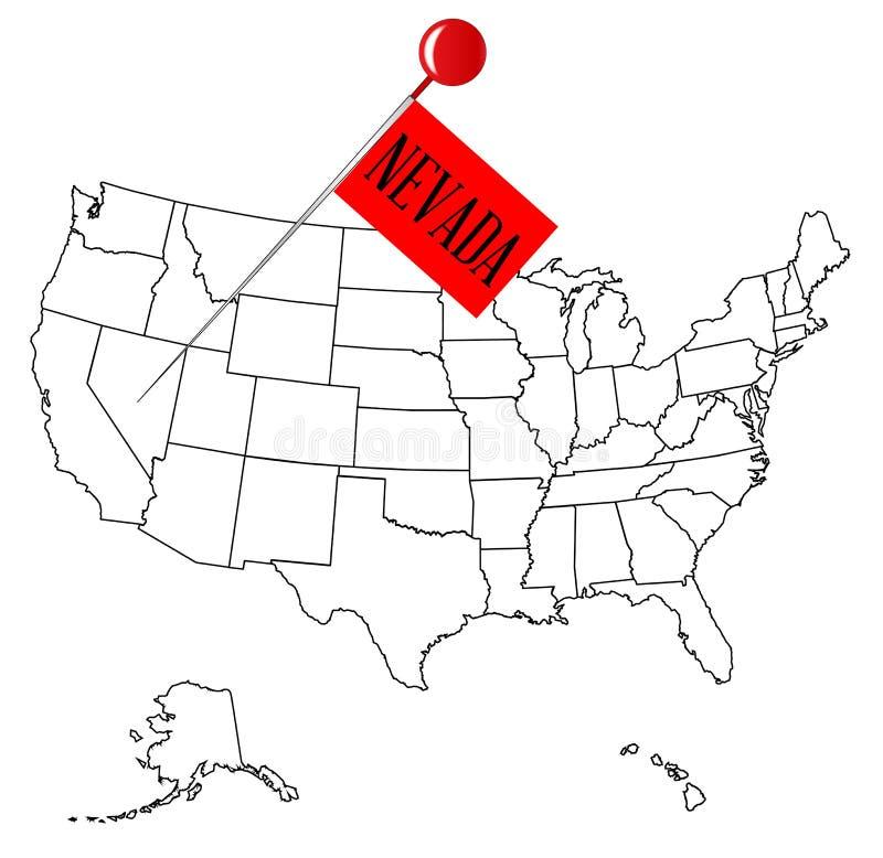 Knop Pin Nevada vector illustratie