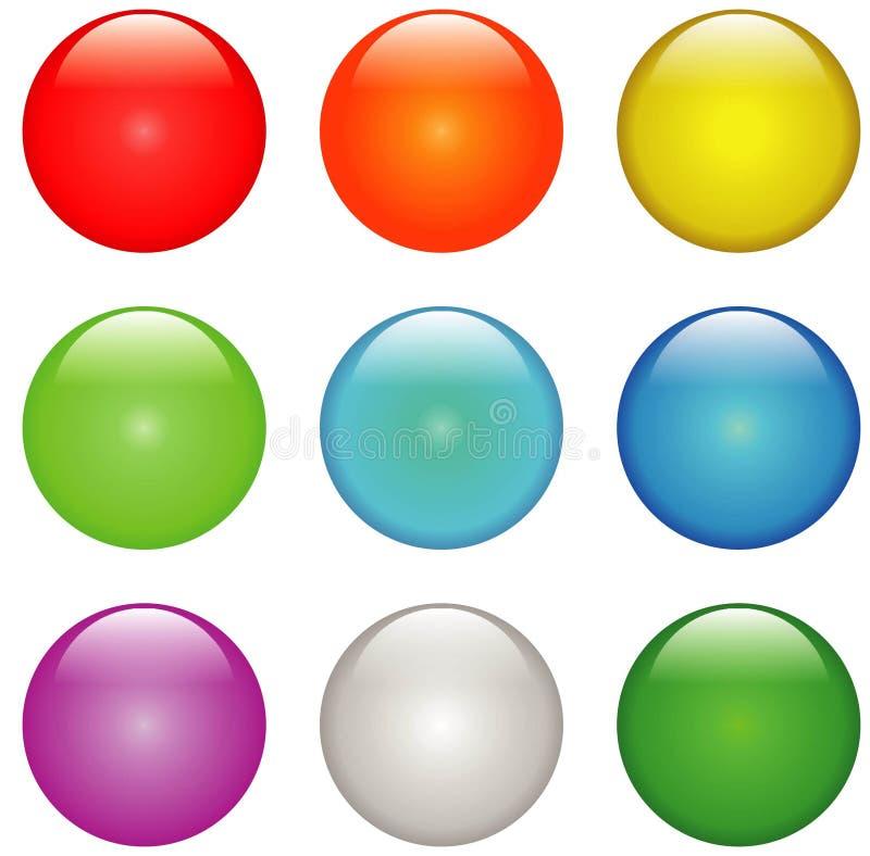 Knopen vector illustratie
