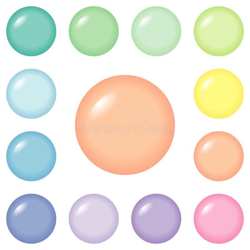 Knopen - ronde en pastelkleur royalty-vrije illustratie