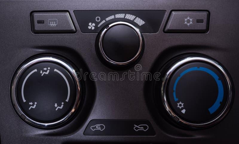 Knopen van de auto de binnenlandse Airconditioning royalty-vrije stock foto