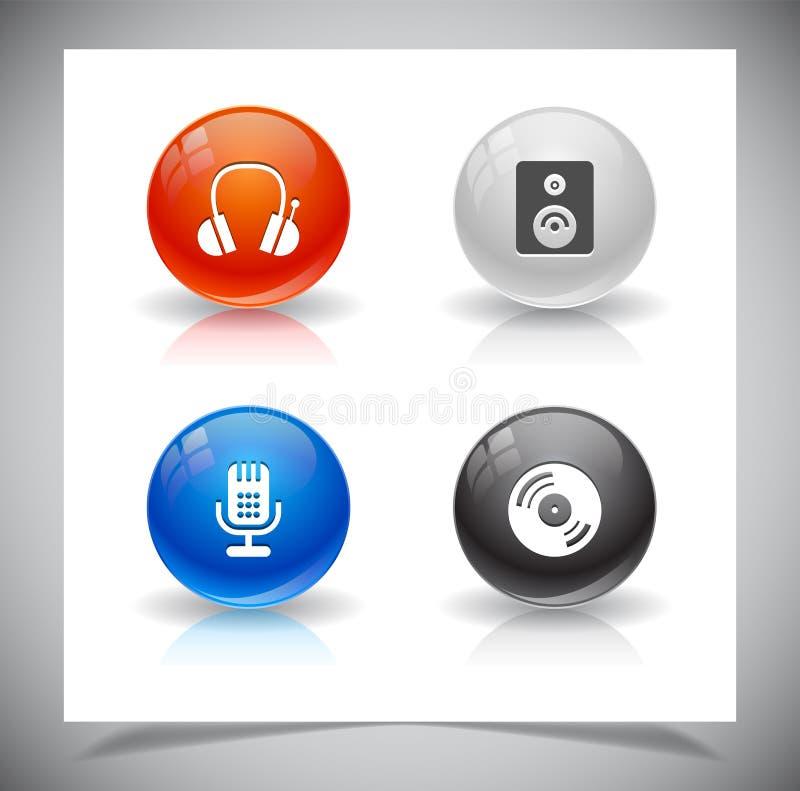 Download Knopen voor Web. vector illustratie. Illustratie bestaande uit modern - 39106785