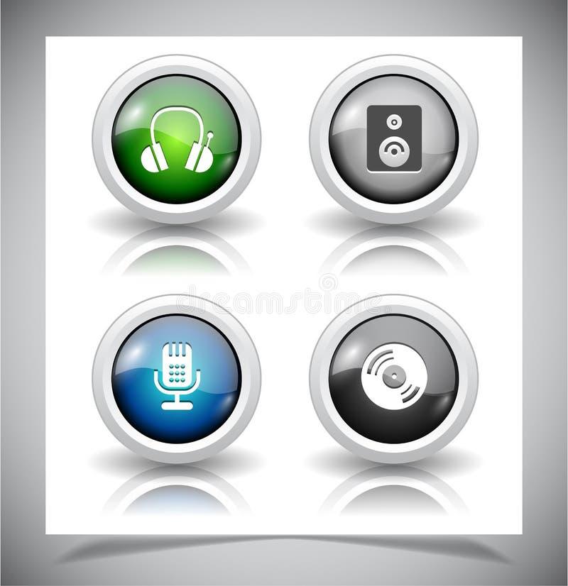 Download Knopen voor Web. vector illustratie. Illustratie bestaande uit pictogram - 39106815