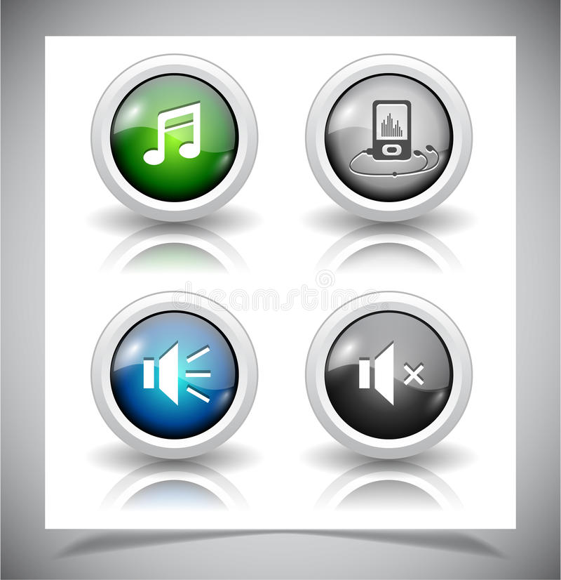 Download Knopen voor Web. vector illustratie. Illustratie bestaande uit luid - 39106851