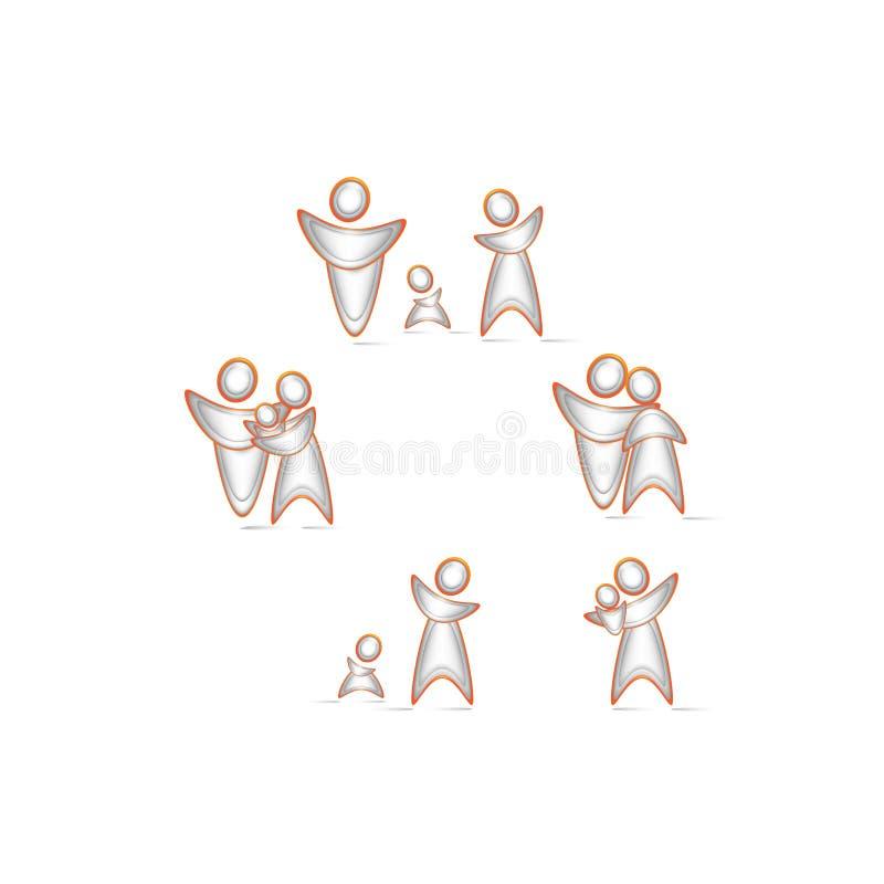 Knopenfamilie royalty-vrije stock afbeeldingen
