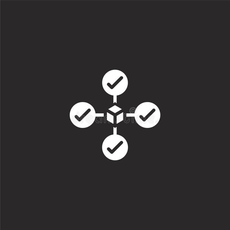 knopenpictogram Gevuld knopenpictogram voor websiteontwerp en mobiel, app ontwikkeling knopenpictogram van gevulde blockchain inz vector illustratie