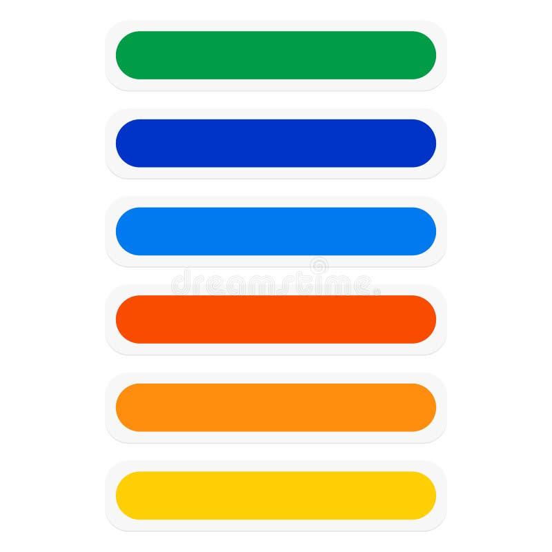 Knopf-/Fahnenrechtecke mit Farbkombination nearsighted lizenzfreie abbildung