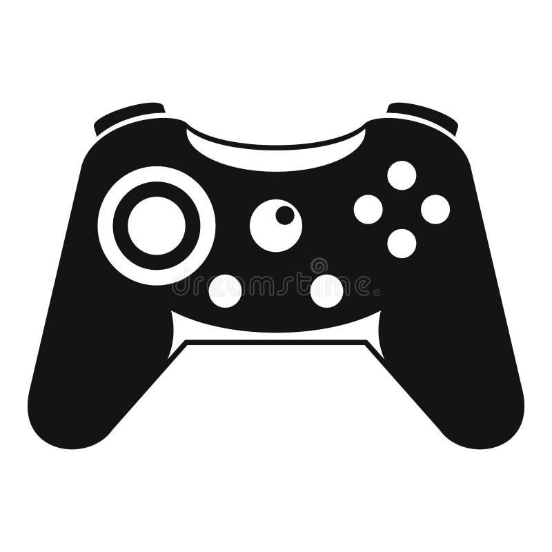 Knopf gamepad Ikone, einfache Art vektor abbildung