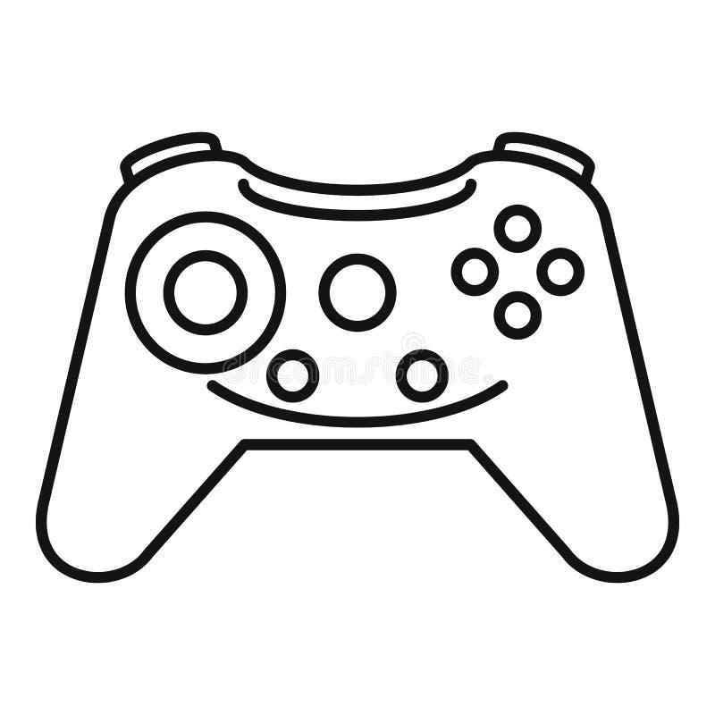 Knopf gamepad Ikone, Entwurfsart vektor abbildung