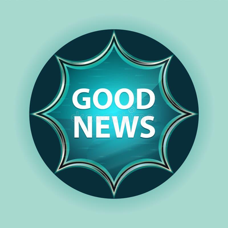Knopf-Himmelblauhintergrund des magischen glasigen Sonnendurchbruchs der guten Nachrichten blauer stock abbildung