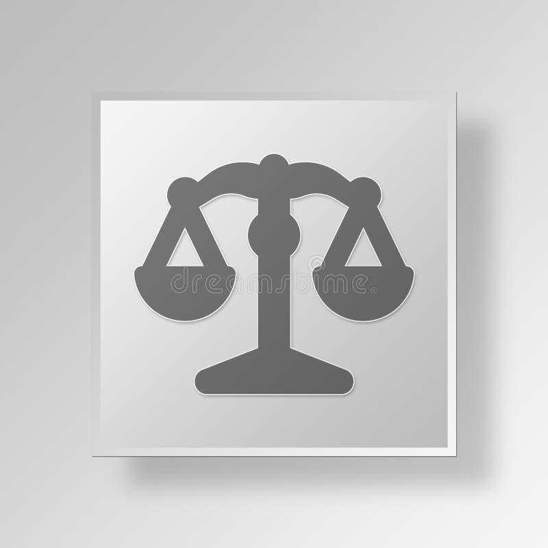 Download Knopf-Ikonen-Konzept Des Gesetz3d Stock Abbildung - Illustration von abzeichen, geschäft: 90232215