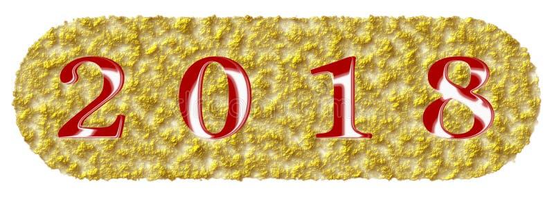 Knopf-Ikonenart Illustration des guten Rutsch ins Neue Jahr 2018 abstrakte schön vektor abbildung