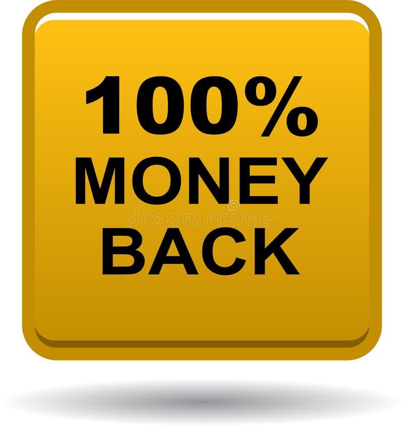 Knopf-Netzikone des Geldes hintere golden lizenzfreie abbildung