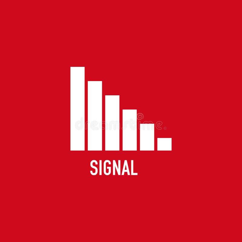 Knopf-Signal-Ikonen-Vektor-Schablonen-Entwurfs-Illustration stock abbildung