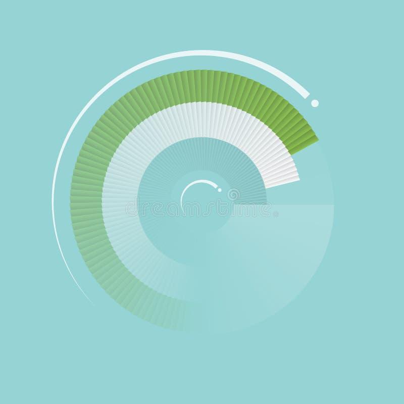 Knopp för Digital kontroll. vektor illustrationer