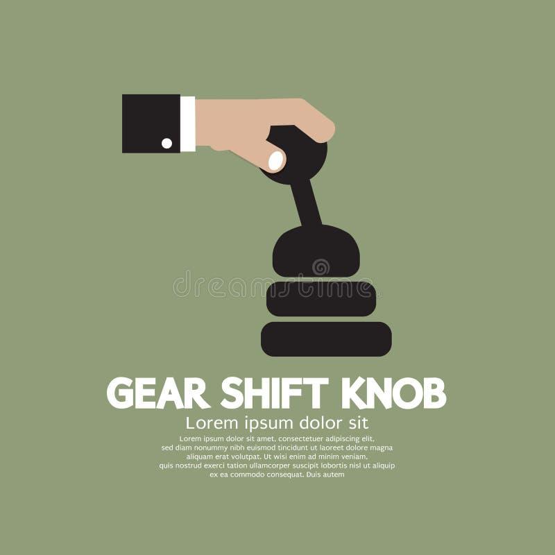 Knopp för kugghjulförskjutning stock illustrationer