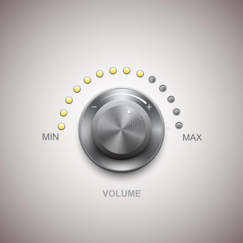 Knopp för volymknappmusik royaltyfri illustrationer