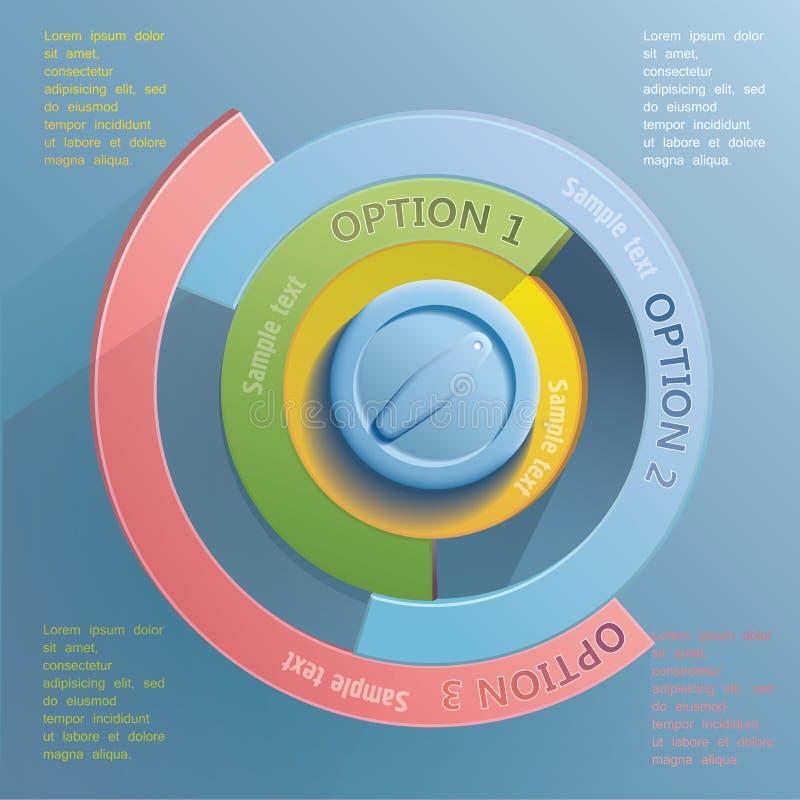 Infographic beståndsdelar vektor illustrationer