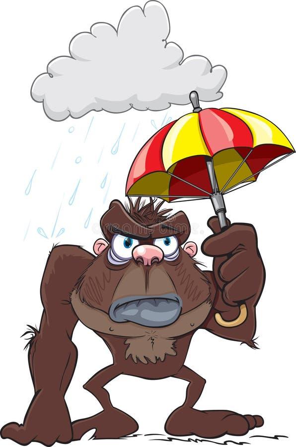Knorrig Gorilla Cartoon royalty-vrije illustratie
