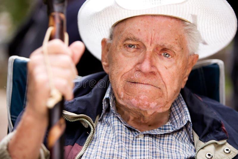 Knorrige Oude Mens stock fotografie