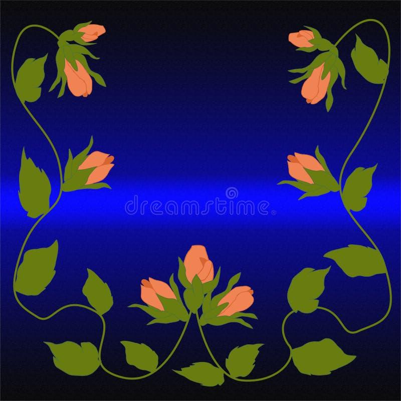 Knospen des Scharlachrots Rose auf einem purpurroten Hintergrund stockbild