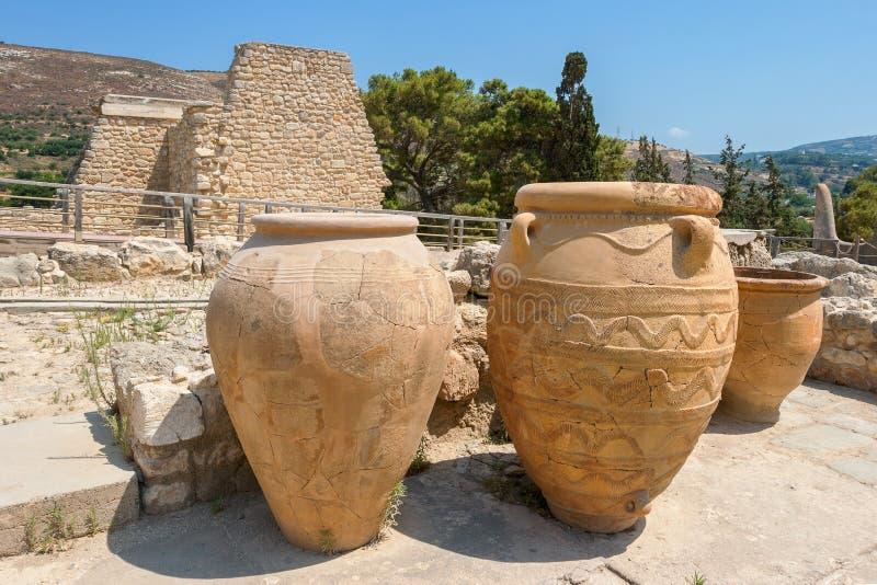 Knossos宫殿。 克利特 库存照片