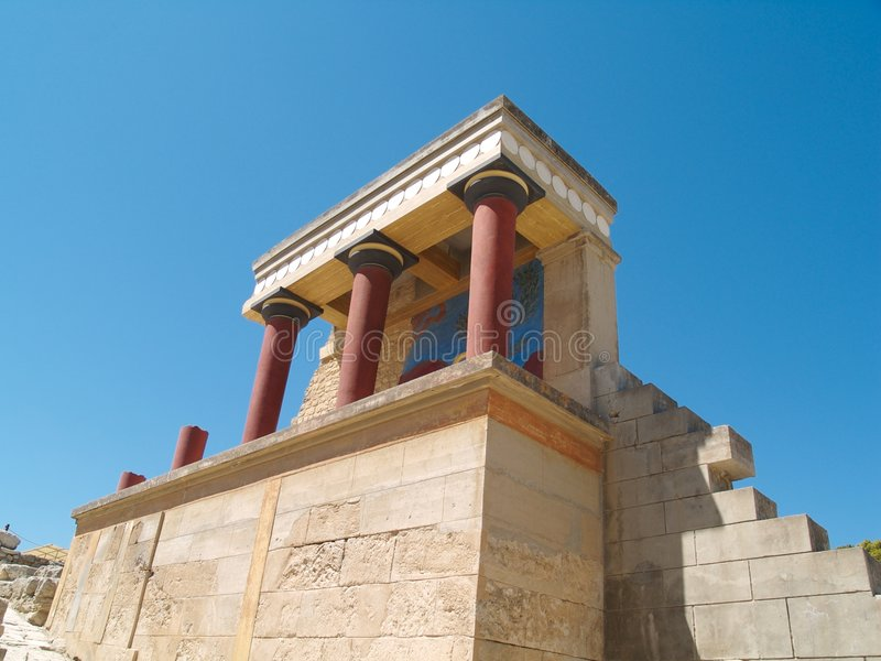 knossos της Κρήτης στοκ φωτογραφία