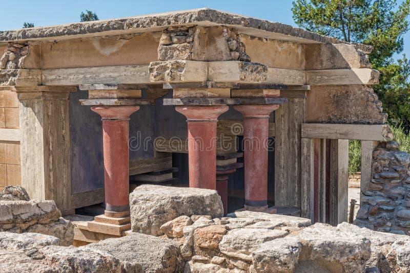 Knossos, дворец Cnossos, также Knossus Cnossus, музей в Крите, Греции стоковые фотографии rf