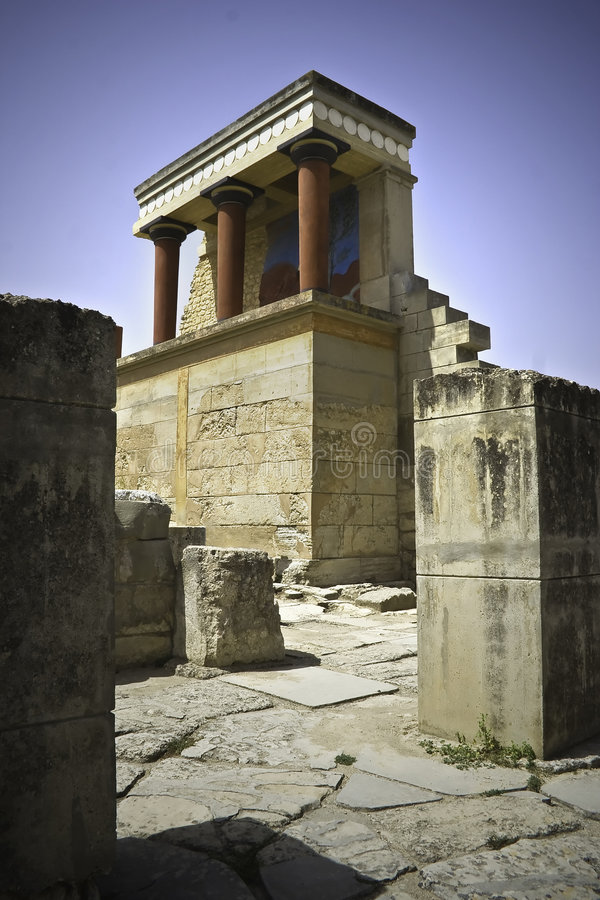Knossos. The famous minoan pallace of knossos on the greek island of crete stock image