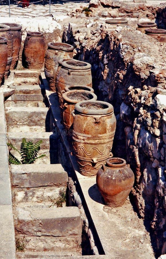 Knossos罐 免版税图库摄影