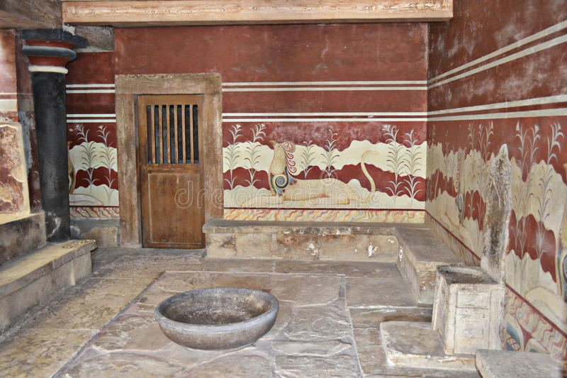 Knossos, Kreta in Griechenland. stockbilder