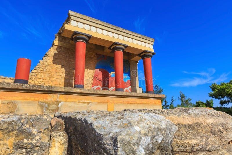 Knossos, Kreta-Ruinen von Knossos, Griechenland stockbilder
