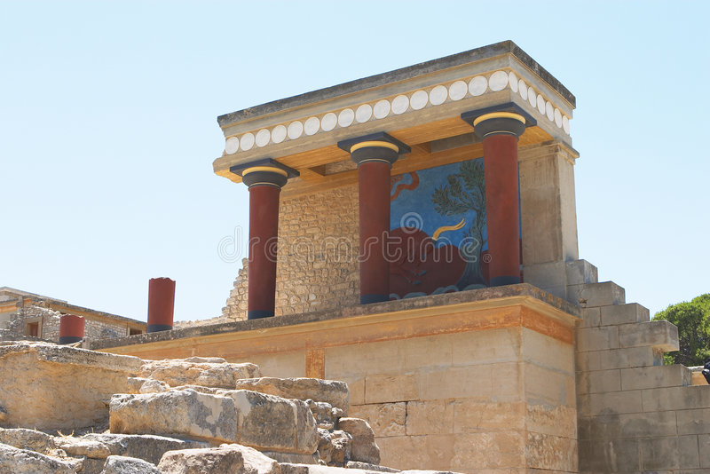 Download Knossos North Entrance 1 stock photo. Image of reconstructed - 168718