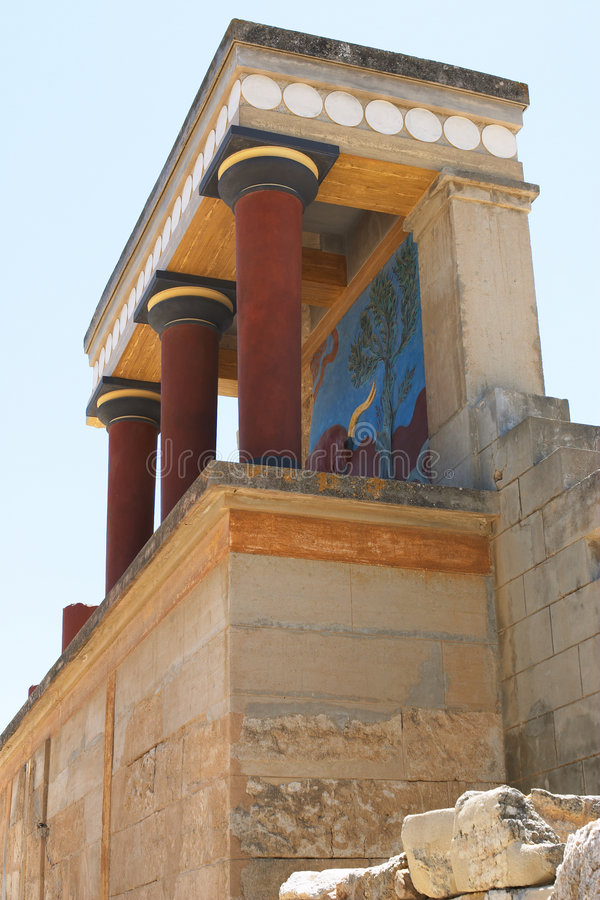 Download Knossos North Entrance 2 stock image. Image of reconstructed - 168791