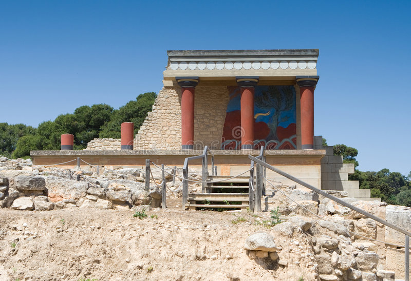Knossos North Entrance stock images