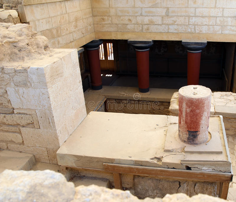 Knossos pałac ruiny krety Greece Heraklion zdjęcia royalty free