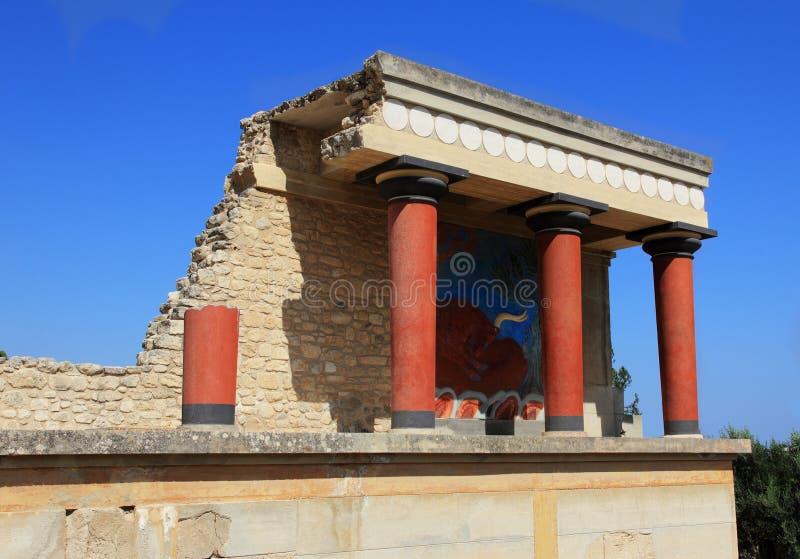 Knossos palace at Crete, Greece stock image