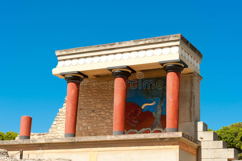 Knossos palace at Crete, Greece stock photography