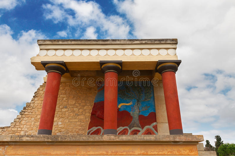 Knossos palace at Crete, Greece royalty free stock images