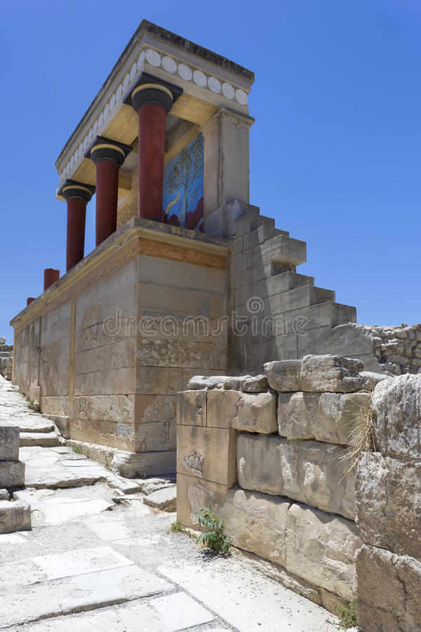 Knossos palace in Crete stock photography