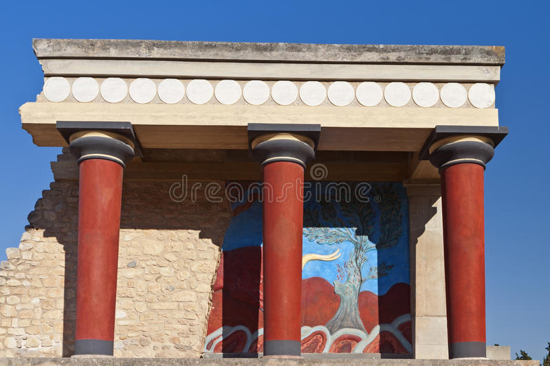Knossos palace at Crete island, Greece royalty free stock image
