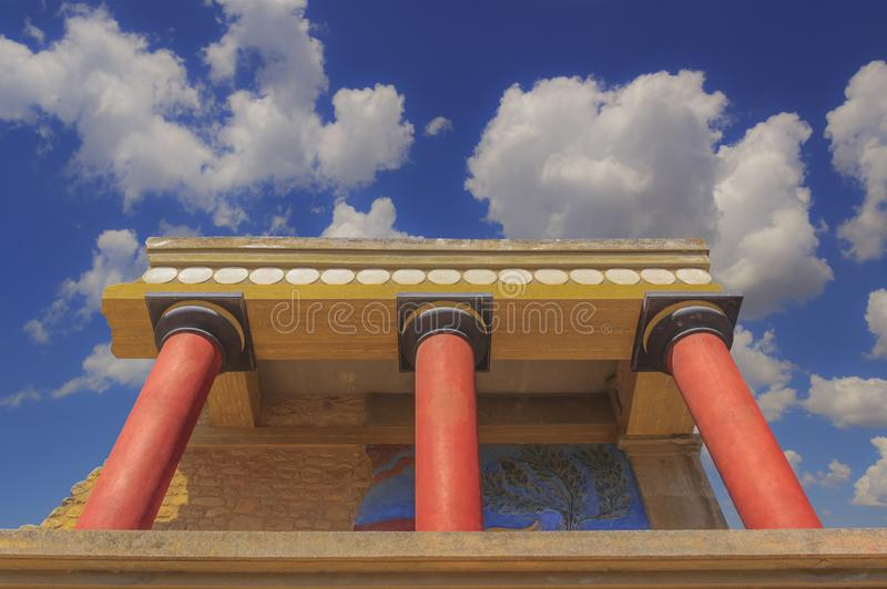 The ruins of the Minoan palaces is the archaeological site Knossos. royalty free stock photography