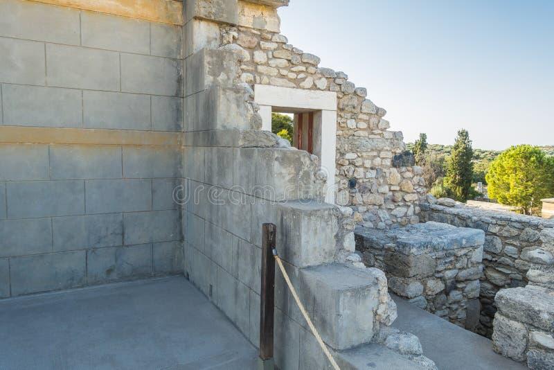 Knossos-Palast Kreta stockfoto