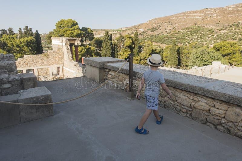 Knossos-Palast Kreta lizenzfreie stockbilder