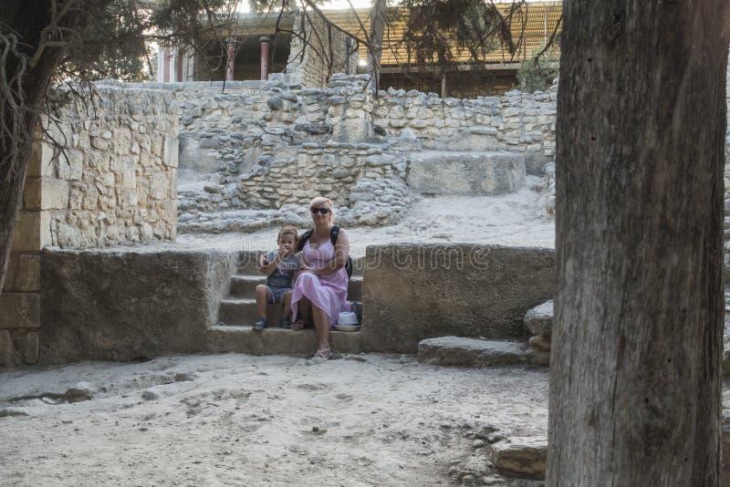 Knossos-Palast Kreta stockbild